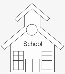 28 Collection Of School Clipart Black And White Png Outline Of School Transparent PNG 2025x2191 Free Download on NicePNG