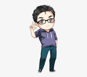 Jord Chibi Anime Boy Glasses Transparent PNG 321x671 Free Download on NicePNG