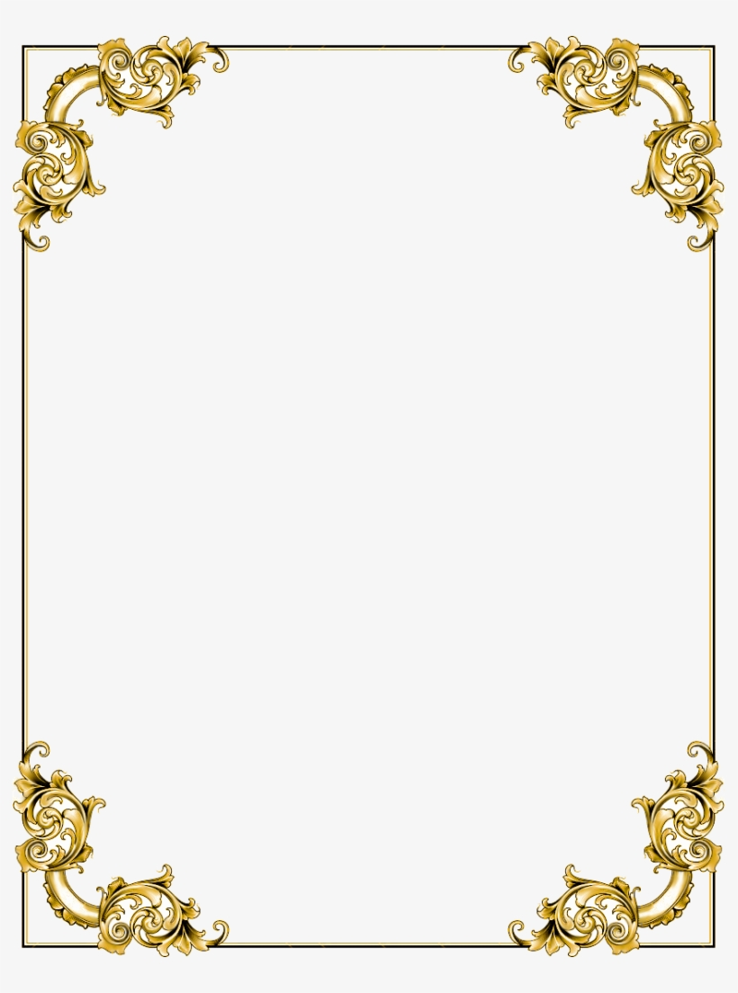 Gold Border Transparent Background : border, transparent, background, Border, Frame, Transparent, Image, 791x1024, Download, NicePNG