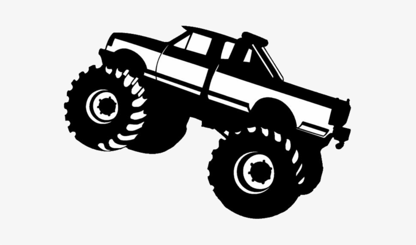 Pick Up Truck Clip Art Vector Pickup - Monster Truck Silhouette Png Transparent