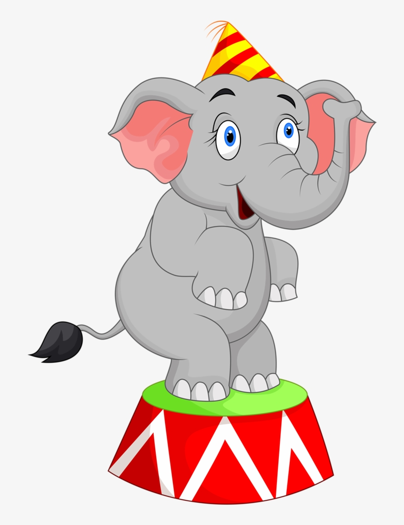 Elephant Clipart : elephant, clipart, Clipart, Train, Carnival, Circus, Elephant, Transparent, 751x1024, Download, NicePNG