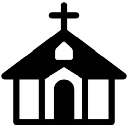Download HD Church Clipart Church Building Ministries Clipart In Black And White Transparent PNG Image NicePNG com