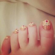cute toe nails woman fashion