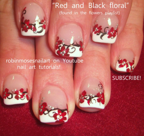Prom Nails Robin Moses Red Black And Woman Fashion