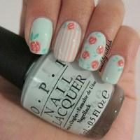 Second vintage flower nail design : Woman Fashion ...