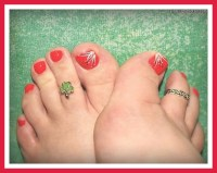 Pics For > Simple Toe Nail Design