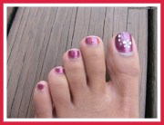 simple toenail design woman