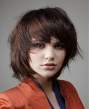 short layered hairstyles woman