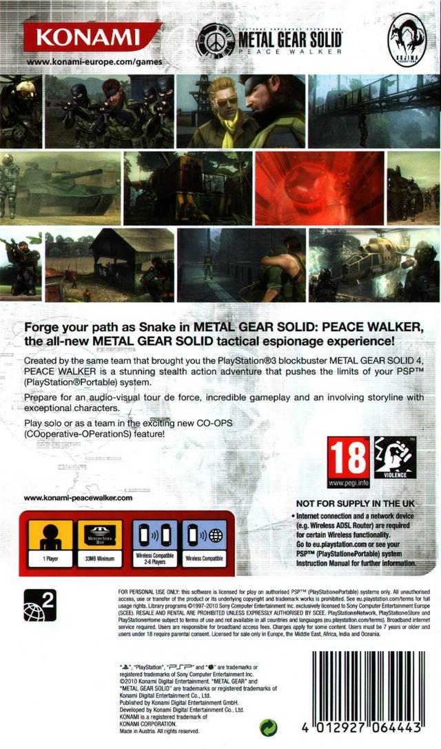 Metal Gear Solid Peace Walker Iso : metal, solid, peace, walker, Metal, Solid:, Peace, Walker, (Europe), NiceROM.com, Featured, Video, ISOs,, Database, SEGA,, SNES,