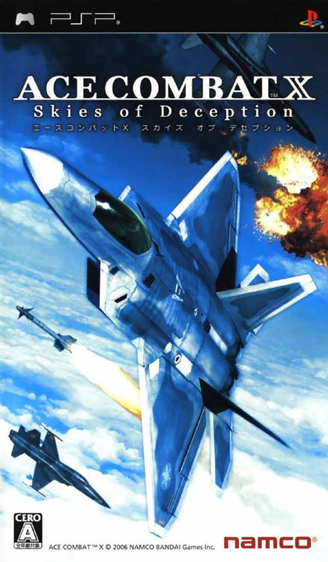 ace combat x skies of deception para psp iso