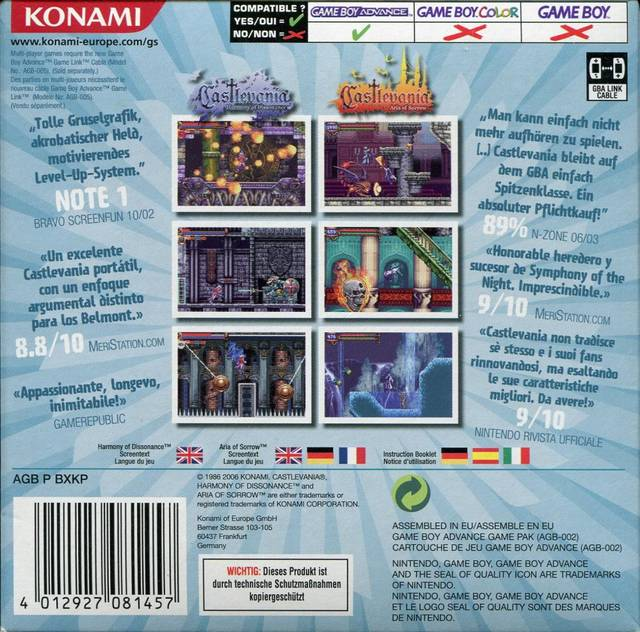 castlevania harmony of dissonance rom german