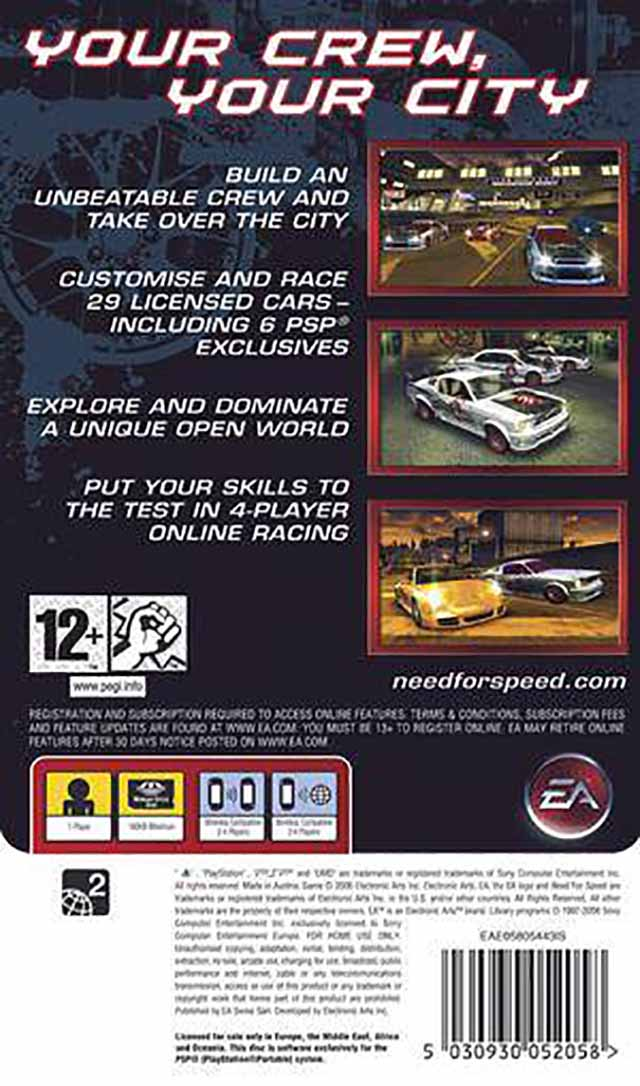 Need For Speed Carbon Own The City Europe Psp Iso Nicerom Com