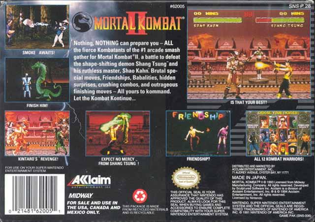 Mortal kombat snes rom