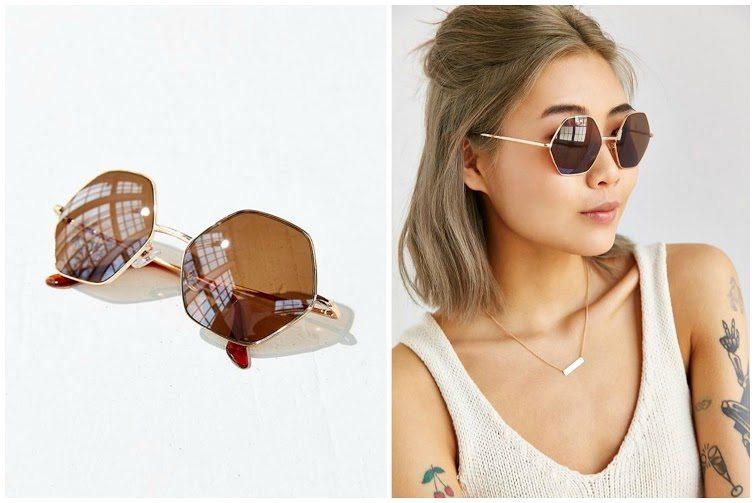 Mimi Geo Round Sunglasses
