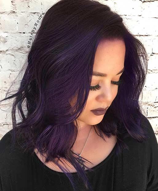 Dark Purple Lob