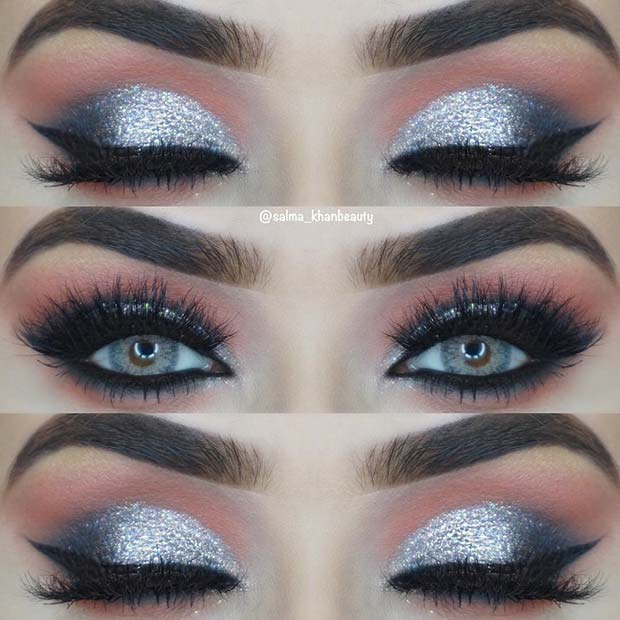 Sparkly Silver Eyes