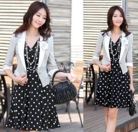 Polka dot dress - 9 Ways to Mix & Match Polka-dot Motifs