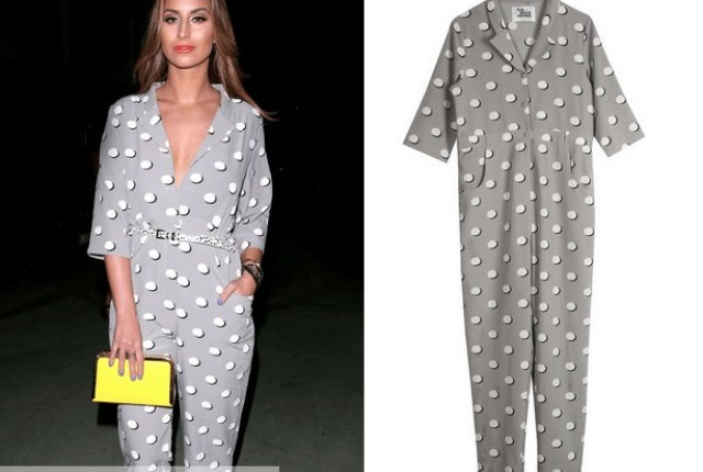 Timeless polka-dot jumpsuit – 9 Ways to Mix & Match Polka-dot Motifs