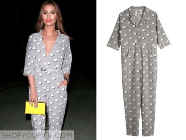 Timeless polka-dot jumpsuit - 9 Ways to Mix & Match Polka-dot Motifs