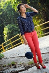 classy polka-dot blouse motif - 9 Ways to Mix & Match Polka-dot Motifs