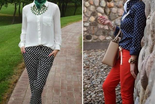 polka-dot shirt or pants motifs – 9 Ways to Mix & Match Polka-dot Motifs