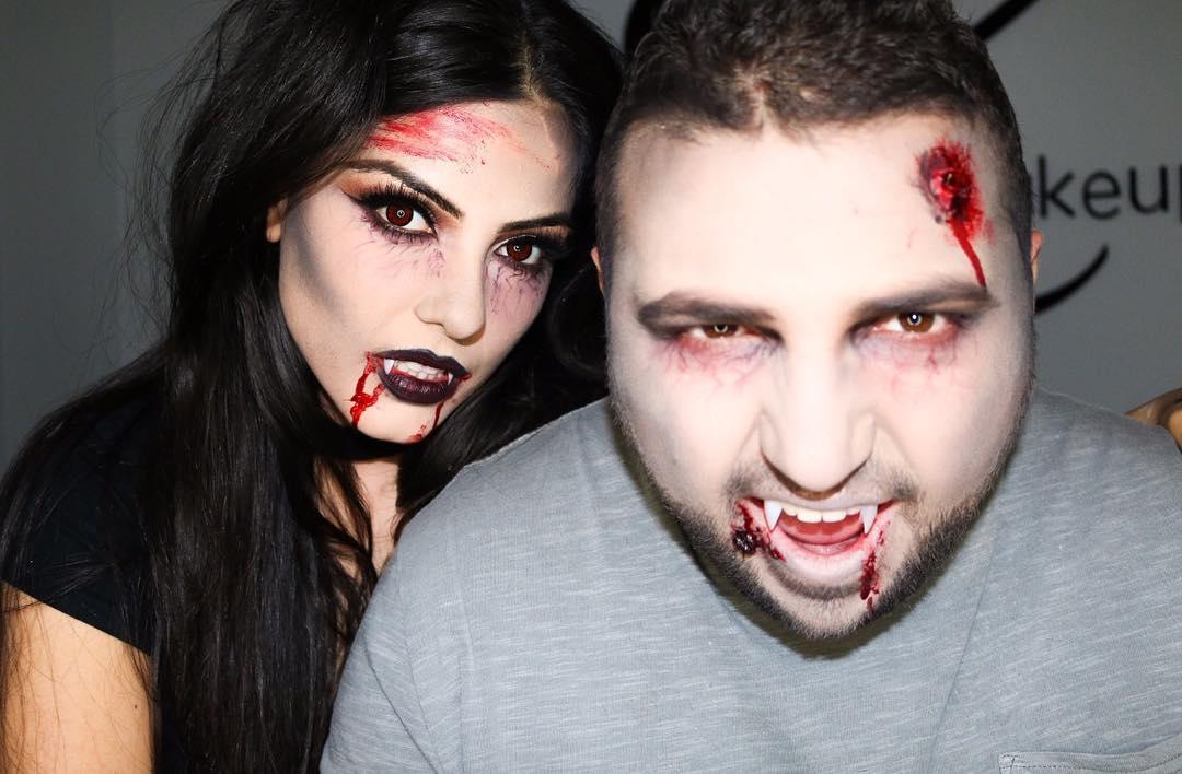 Vampire Halloween couple costume