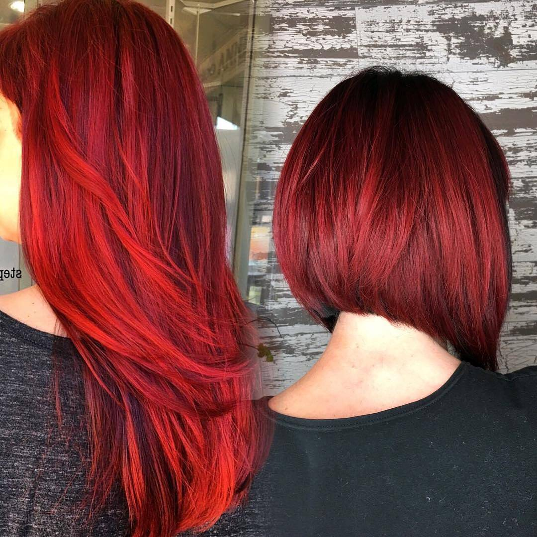 Fabulous flaming red short hairstyles for thick hair