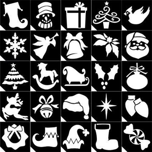 Glitter Tattoo Stencil – Christmas