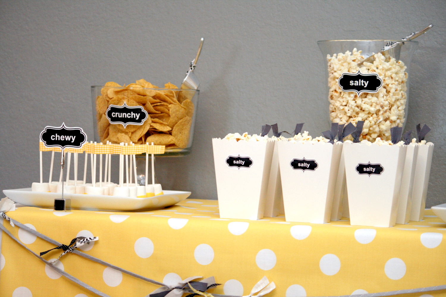 Diy Party Food Labeling Nicethingsinmylife
