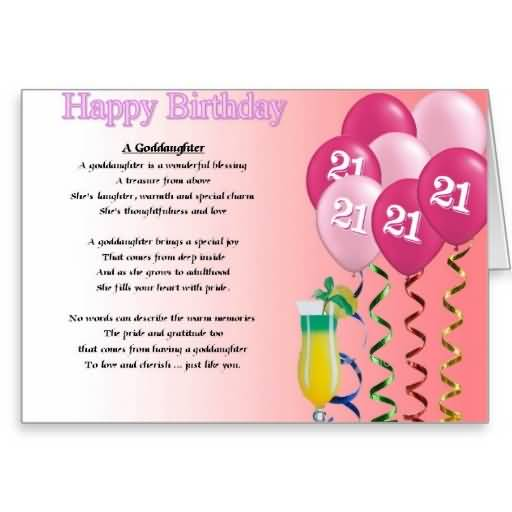 Funny 21st Birthday Poems For Niece – Niece 21st Birthday Cards