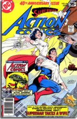 Action Comics had elements of the Amazing Fantasy cover in this issue.