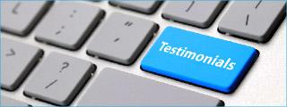 Want a testimonial? Click the 'Testimonials' key!