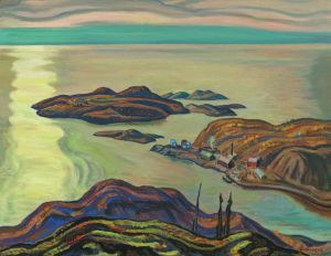 """A.Y. Jackson """"Radium Mine"""" (1938), one of a series of oil paintings and sketches of the Port Radium mine by the iconic artist. Source: Wikipedia"""