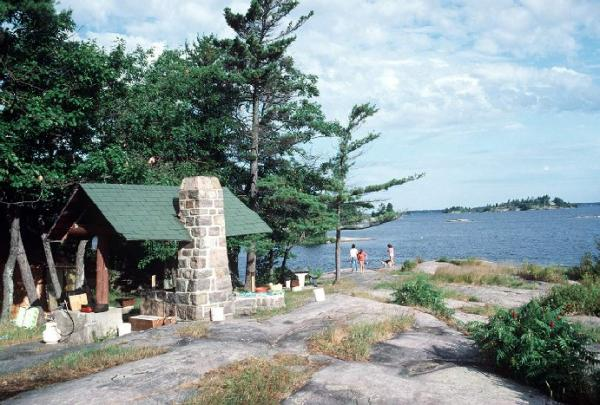 Camping on Beausoleil Island, Georgian Bay Islands National Park, 1986. Photo © Parks Canada/Barrett & MacKay