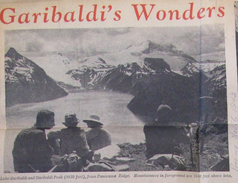 Panorama Ridge, 1943. Provence Newspaper.