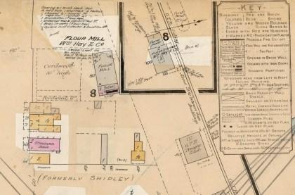 Figure 4:6: Ailsa Craig, Fire Insurance Plan (detail) 1903