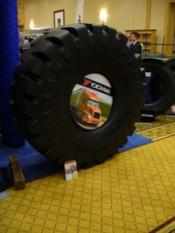 Tire, for sale at the Truck Loggers Convention