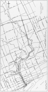 Map of the Don Valley Parkway, 1955