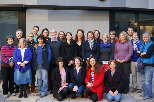 Photo by Cameron Muir: Participants of the 7th Biennial Environmental History PhD Writing Workshop, Fenner School of Environment and Society, Australian National University, Canberra, ACT, Australia, May 30 2014.
