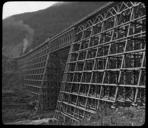 Bridge over Mountain Creek, British Columbia 1885-1900