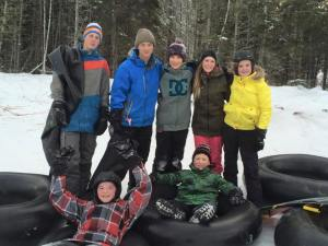 Happy slopecutters at Elk Ridge Resort, December 2014. Photo by Merle Massie.