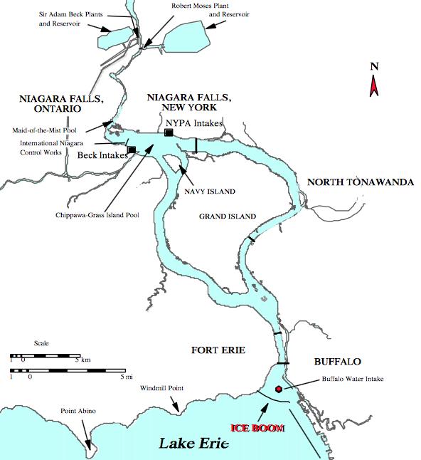 Niagara ice boom map