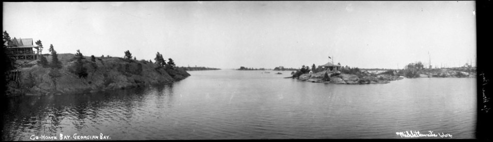Go Home Bay, Georgian Bay, Ont. Credit: Frank W. Micklethwaite/Library and Archives Canada/PA-068493.