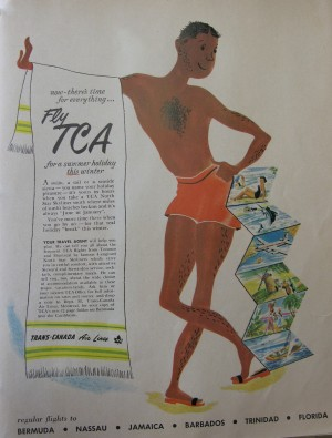 1950 TCA magazine advertisement. Source: Air Canada Collection, Canada Aviation and Space Museum.