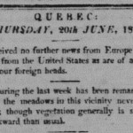 Quebec Gazette, 20 June 1816