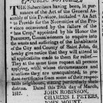 New Brunswick Courier, 26 April 1817