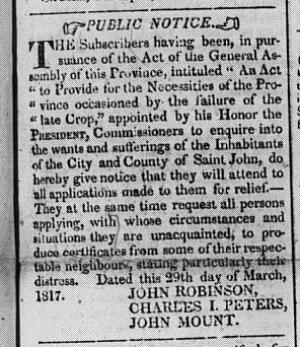 1817 04 26, NB C, poor relief notice0000