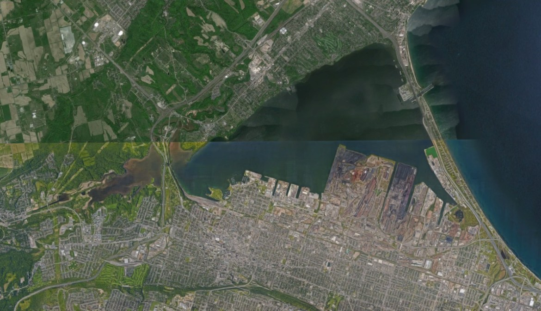 Hamilton Harbour. Source: Google Earth.
