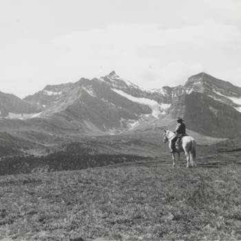 Jimmy Simpson on Mount Southesk, Jasper. Source: Cowan_PP_251, U Victoria Special Collections. Found in Briony Penn's The Real Thing (Rocky Mountain Books, 2015).