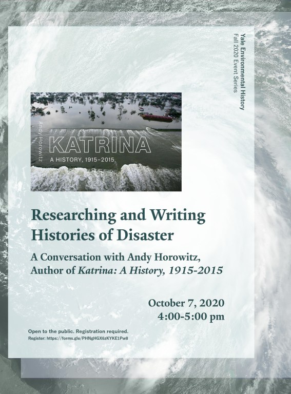 Researching and Writing Histories of Disaster - Event Poster